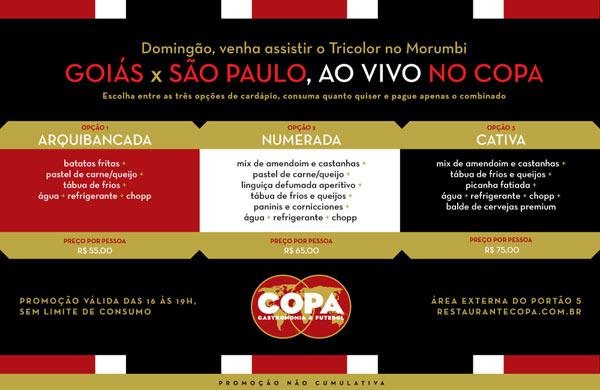 Goiás X São Paulo no COPA