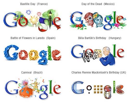 Logos personalizadas do Google
